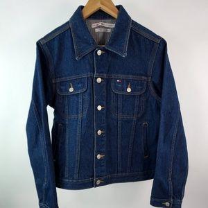Women's Tommy Denim Jacket Large Dark Wash Denim